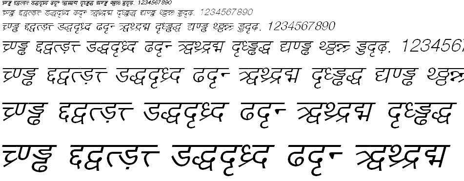 DV TTYogeshEN Italic Hindi Font