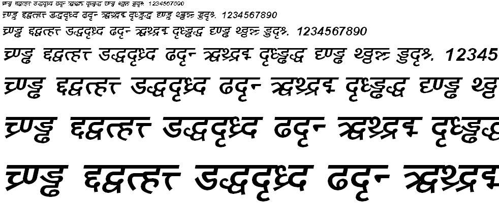 DV_Divyae Bold Italic Hindi Font