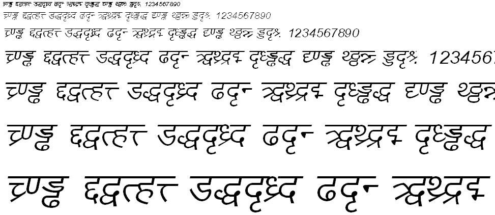DV_Divyae Italic Hindi Font
