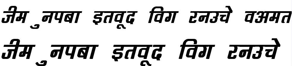 DevLys 060 Bold Italic Hindi Font
