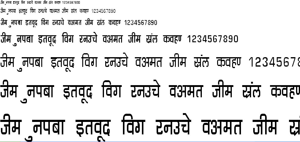 DevLys 060 Condensed Hindi Font