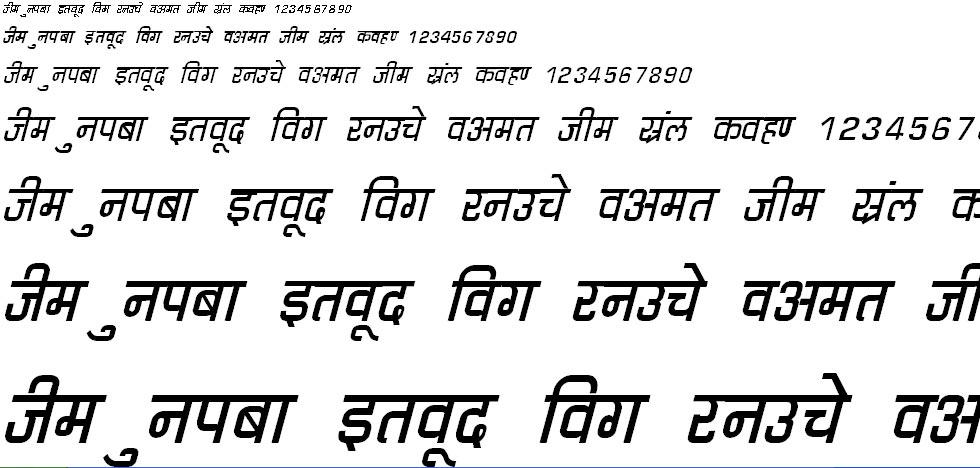 DevLys 060 Italic Hindi Font