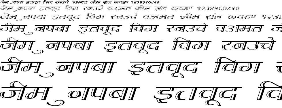 DevLys 070 Wide Hindi Font