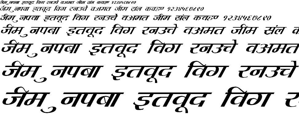 DevLys 080 Italic Hindi Font