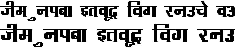 DevLys 090 Bold Hindi Font