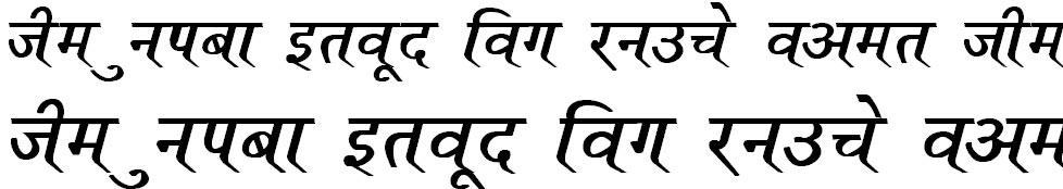 DevLys 110 Bold Italic Hindi Font