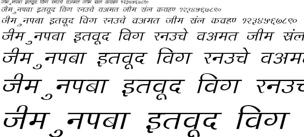 DevLys 140 Italic Hindi Font