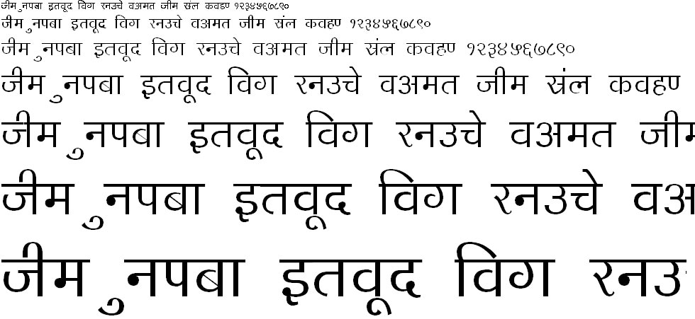DevLys 140 Thin Hindi Font