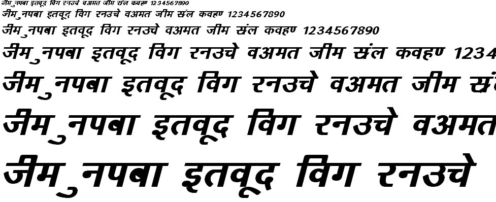 DevLys 160 Bold Italic Hindi Font