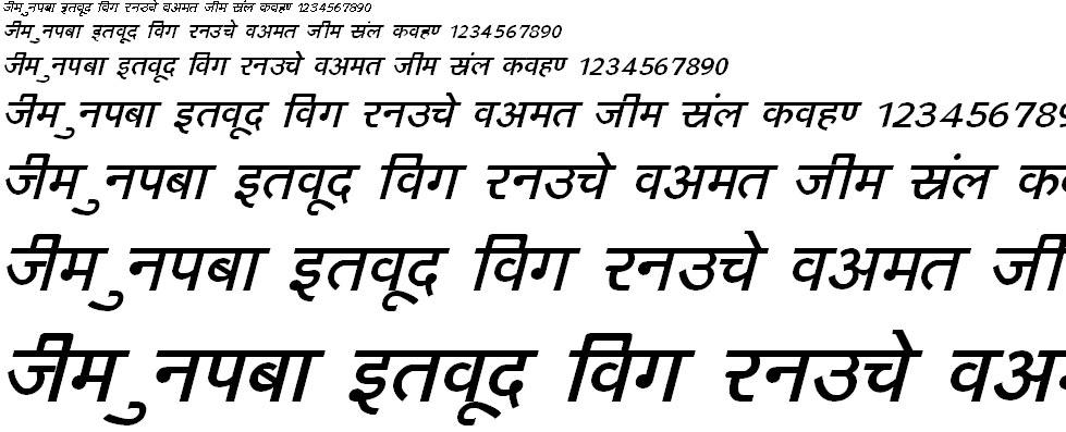 DevLys 160 Italic Hindi Font