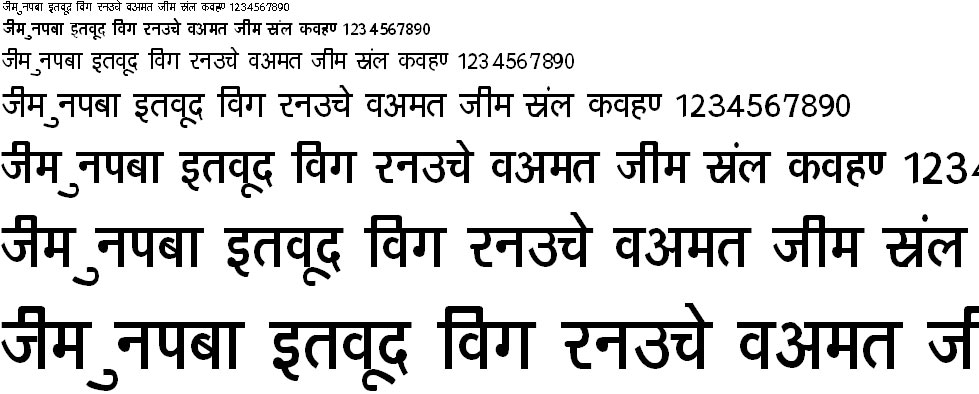 DevLys 160 Thin Hindi Font