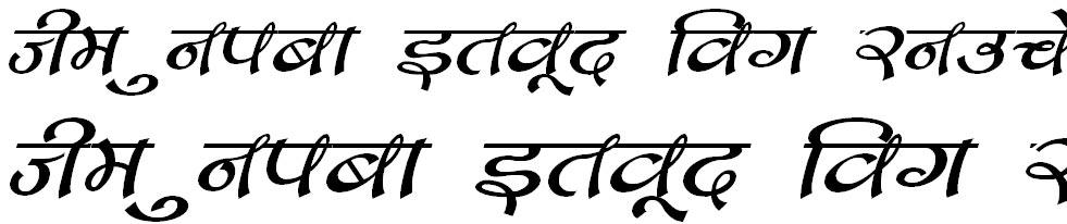 DevLys 170 Italic Hindi Font