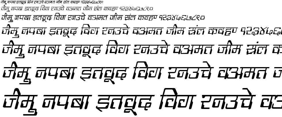 DevLys 190 Italic Hindi Font