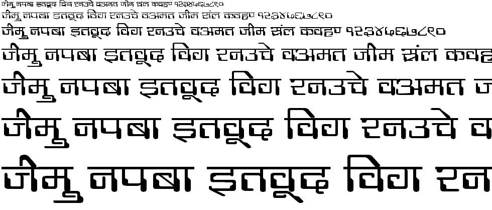 DevLys 190 Wide Hindi Font