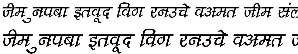 DevLys 210 Italic Hindi Font