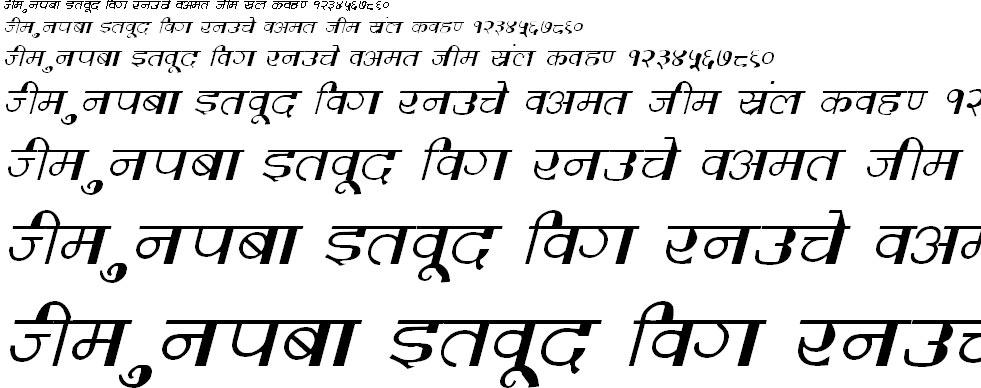 DevLys 220 Italic Hindi Font