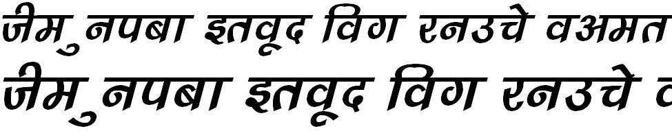 DevLys 240 Italic Hindi Font