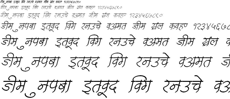 DevLys 250 Italic Hindi Font