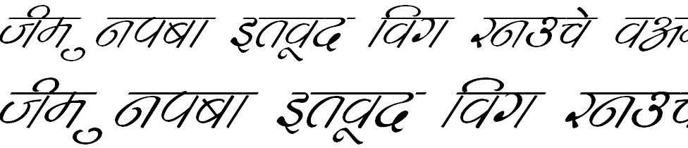 DevLys 260 Italic Hindi Font
