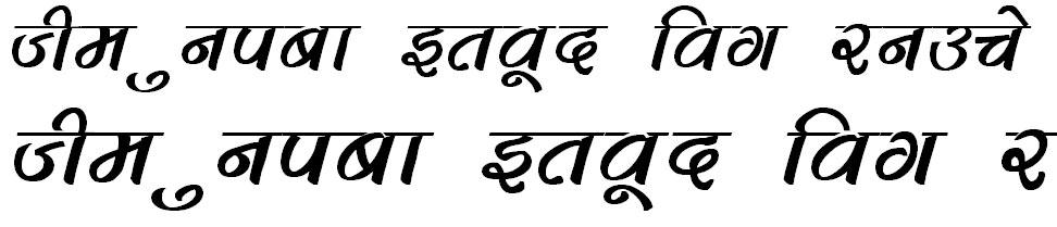 DevLys 280 Bold Italic Hindi Font