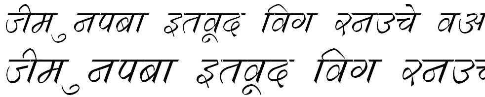 DevLys 290 Italic Hindi Font