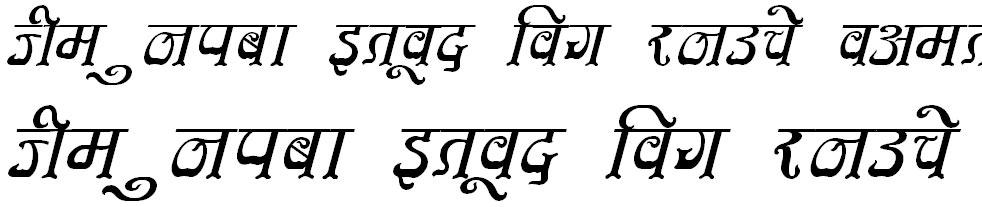 DevLys 350 Italic Hindi Font