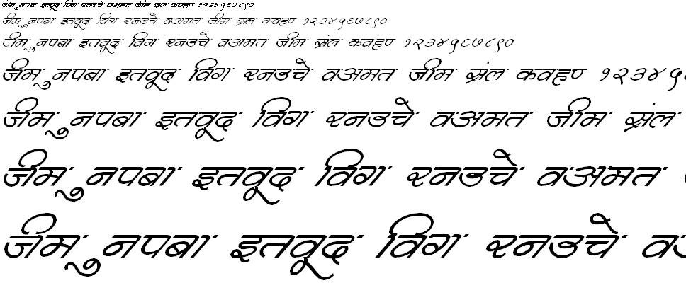 DevLys 360 Italic Hindi Font