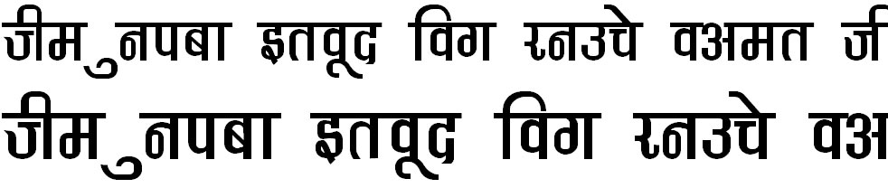 DevLys 370 Thin Hindi Font
