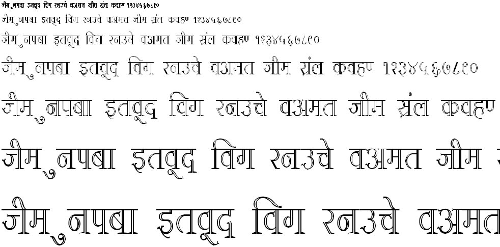 DevLys 380 Condensed Hindi Font