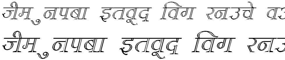 DevLys 380 Italic Hindi Font
