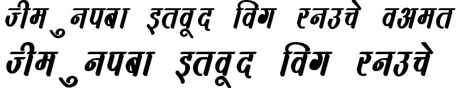 DevLys 390 Bold Italic Hindi Font