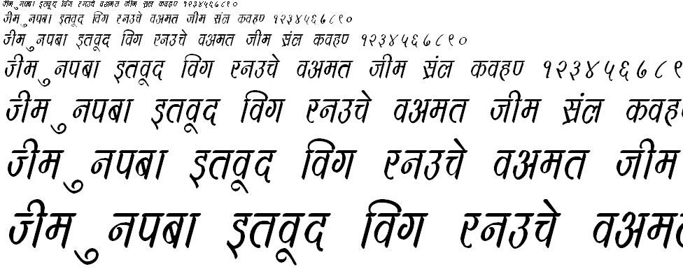 DevLys 390 Italic Hindi Font