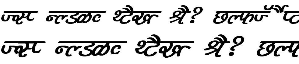DevLys 400 Bold Italic Hindi Font