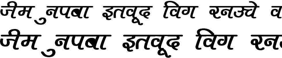 DevLys 400 Bold Hindi Font