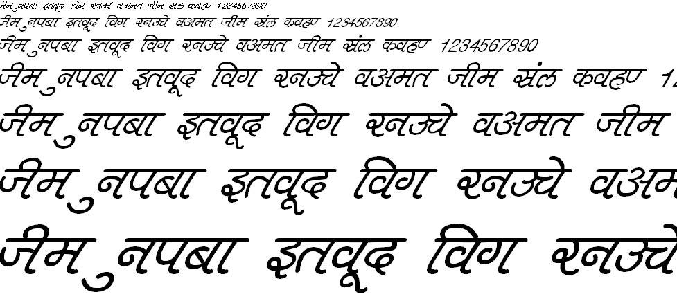 DevLys 400 Italic Hindi Font